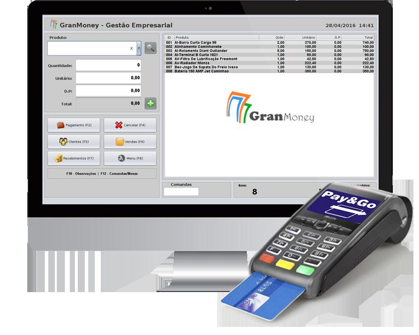 Integração do sistema pdv a maquina de cartão por meio da transferência eletrônica de fundos - TEF